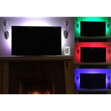 NYC Acoustics USB RGB LED Light Strip Package Kit to Backlight Your TV / Monitor
