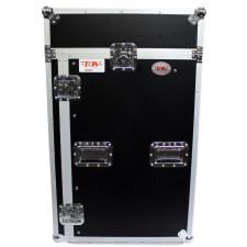 Pro X TOV T-18MRSS 18Ux10U Slant Rack Pro DJ ATA300 Flight Case w/ Wheels 3/8