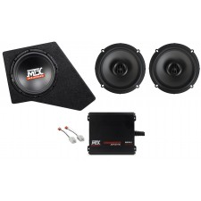 "2007-2016 JEEP WRANGLER JK 4-DOOR 10"" MTX Subwoofer+Box+Sub Amp+2) 6.5"" Speakers"