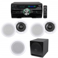 """Technical Pro 4000w Home Theater DVD Receiver w/Bluetooth+(5) 6.5"""" Speakers+Sub"""