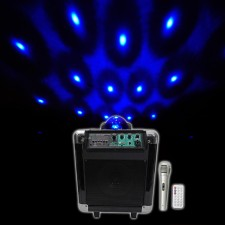 "NYC Acoustics NB65A Pro 6.5"" Rechargeable USB/Bluetooth Powered PA Party Speaker"