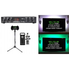 VOCOPRO SINGTOOLS DSP Vocal Effects Karaoke Mixer, Pitch Correct+Mic+Stand+LED's