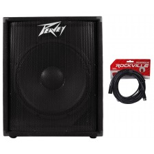 """Peavey PV118D 18"""" 300 Watt Active/Powered PA DJ Subwoofer Sub +FREE Cable"""