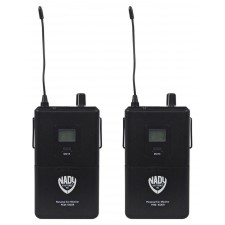 2 Nady PEM-1000R Portable Bodypack Receiver for PEM-1000 Band 2 Wireless Systems