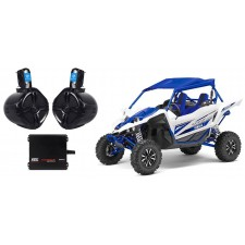"""Yamaha YXZ 6.5"""" 250w Rollbar Roll Cage Tower Speakers+MTX 2-Channel Amplifier"""