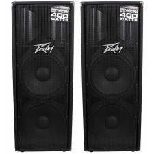 """(2) Peavey PV215D Dual 15"""" 800W Active Powered DJ/PA Speakers Class D Amplified"""