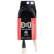 """4 Hosa HPX-003 3 Foot Rean 1/4"""" TS To XLR 3Pin Male Pro Unbalanced Audio Cables"""
