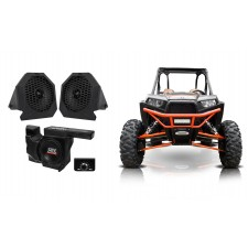 "MTX RZRPOD65 Polaris RZR 6.5"" Dash Speakers+10"" Powered Sub+Under-Dash Enclosure"