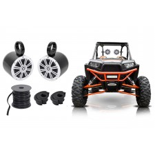 "Pair Kicker 6.5"" 150 Watt Roll cage Tower Speakers For Polaris RZR/ATV/UTV/Cart"