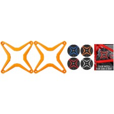 SSV WORKS WP-CGS-O Orange Grille 4 WP-A6 Speaker To Color Match RZR/ATV/UTV/Cart