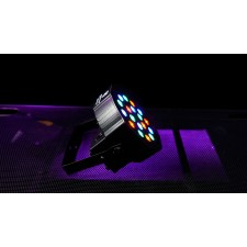 12) FARENHEIT FHB-118 LED RGB DMX LED PAR Wash Lights+Controller+12) Cables+Bags