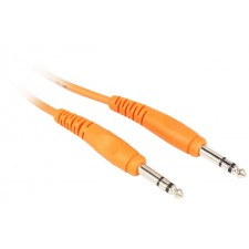 Rockville RCTR110O 10' 1/4'' TRS to 1/4'' TRS Cable, Orange, 100% Copper