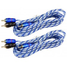 (2) Rockville RTR062 6 Foot Twisted Pair RCA Cables Split Pin, 100% Copper