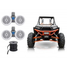 "(2) Rockville Dual 6.5"" 600w Tower Speakers for Polaris RZR/Jeep/ATV/UTV/Cart"