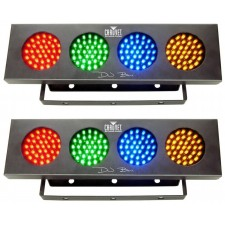 (2) Chauvet DJ BANK 140 LED Light Bank Systems, Sound Activated or Auto Programs