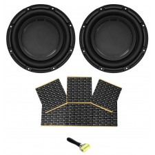 "(2) Polk Audio DB1042DVC 10"" 2100w Dual 4-Ohm Car Audio Subwoofer Sub+Rockmat"