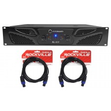 Crown Pro XLi800 600w 2-Channel DJ/PA Power Amplifier Amp + Cables XLI 800