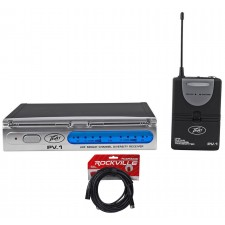 Peavey PV-1 U1 BG 921.30MHZ UHF Wireless Electric Guitar Pack System+XLR Cable