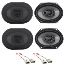 """Front+Rear Rockville 6x8"""" Factory Speaker Replacement Kit For 93-02 Mazda 626"""