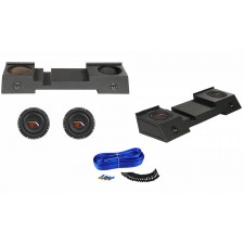 """Dual 10"""" Bedlined Sub Box+2) Subs For 01-16 Chevy Avalanche or Cadillac Escalade"""