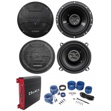 "(2) Hifonics ZS653 6.5"" 600W Speakers+(2) 5.25"" Speakers+4-Ch Amplifier+Amp Kit"