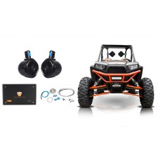 "2) Rockville 8"" 300w Rollcage Tower Speakers+4-Ch Amplifier 4 ATV/UTV/RZR/CART"