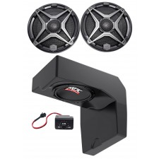 "10"" Powered Under-Seat Subwoofer+Waterproof Speakers for 2014-17 Polaris Ranger"
