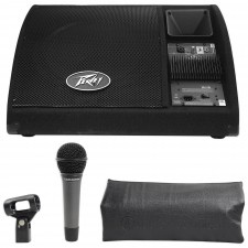 """Peavey PV 15PM 15"""" 200w Bi-Amplified 2Way Active Floor Monitor+Microphone PV15PM"""