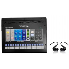 PRESONUS EarMix 16M 16x2 16-Ch AVB Personal Monitor Mixer+Mackie In-Ear Monitors