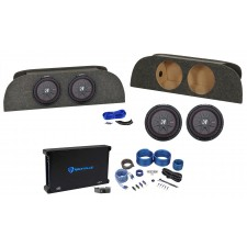 """2003-2008 Nissan 350Z Coupe Dual 10"""" Kicker Subwoofers+Sub Box+Amplifier+Wires"""