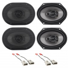 """Front+Rear Rockville 6x8"""" Factory Speaker Replacement Kit For 91-94 Mazda Navajo"""