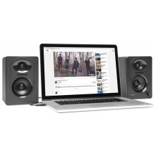 Pair Samson M30 Gaming Twitch Streaming Computer Speakers Monitors