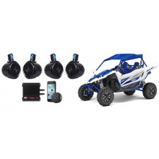 """Yamaha YXZ  (4) 8"""" Tower Speakers+4-Channel Amplifier+Bluetooth Controller"""