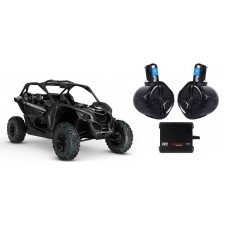 """Can-Am Maverick 6.5"""" 250w Rollbar Roll Cage Tower Speakers+MTX 2-Ch. Amplifier"""