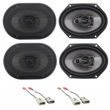 """Front+Rear Rockville 6x8"""" Factory Speaker Replacement For 2001-11 Mazda Tribute"""