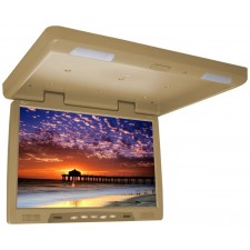"TView T2207IR 22"" Thin Overhead Car/Truck/SUV Video Monitor IR Transmitter Beige"