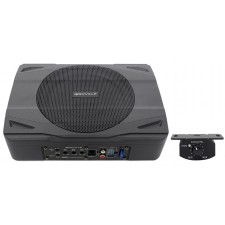 Slim Active Powered 400 Watt Subwoofer Sub w/Remote For 1987-2006 Jeep Wrangler