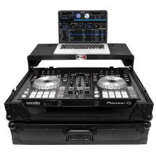 ProX XS-DDJSR2LTBL-LED Case+Sliding Laptop Shelf+LED's For Pioneer DDJ-SR2-Black