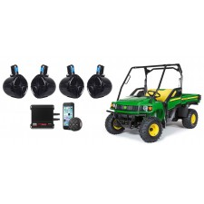 "Kawasaki TERYX (4) 8"" Tower Speakers+4-Channel Amplifier+Bluetooth Controller"