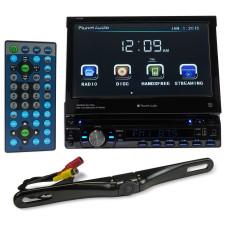 "Planet Audio P9759B 7"" 1-Din In-Dash Car DVD Receiver w/ Bluetooth USB/SD+Camera"