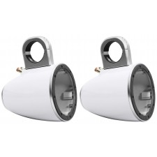 "Pair Kicker 43KMTES8W White Marine 8"" Speaker Wakeboard Tower Enclosures KMTES8"
