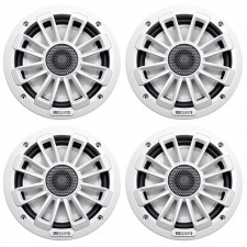 "(4) MB Quart NK1-116 6.5"" 480 Watt Nautic Marine Coaxial Boat Speakers - White"