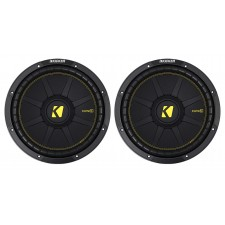 (2) KICKER 44CWCS124 CompC 12 1200 Watt SVC 4-Ohm Car Subwoofers Subs CWCS124