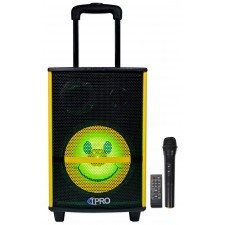 Technical Pro WASP810SMILE Bluetooth LED Home Theater Party Speaker+Wireless Mic