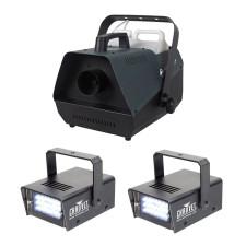 New American DJ Fog Fury 3000 DMX Fog Machine w/ Wired Remote+(2) Strobe Lights