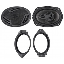 "2014-2017 Chevrolet Chevy Silverado 1500 6x9"" Front Speaker Replacement Kit"