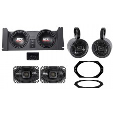 """1997-2006 Jeep Wrangler TJ Dual 10"""" Subwoofers+Amp+Box+Front+Rollbar Speakers"""