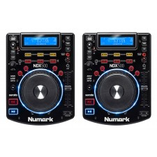 2) Numark NDX500 Single DJ Tabletop USB/CD Media Player And Software Controllers