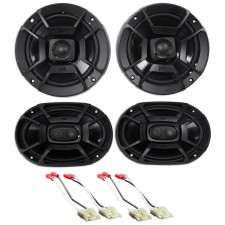 99-04 Jeep Grand Cherokee Polk Audio Front+Rear Factory Speaker Replacement Kit