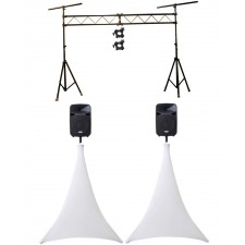 Chauvet CH31 Lighting Tree Truss Light Stand +Scrim Werks SWLTPSWHT White Covers